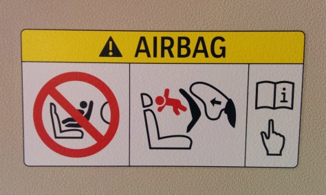 airbag caution