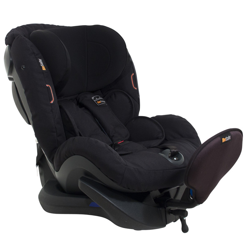 Extended rear facing BeSafe iZi Plus, which has a 0 - 25kg weight limit, approx 6 months to 6 years.