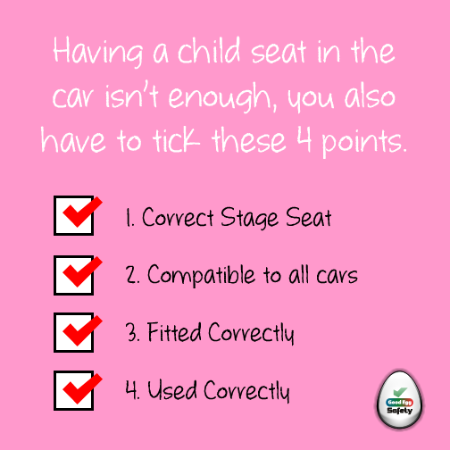 A child car seat is not enough